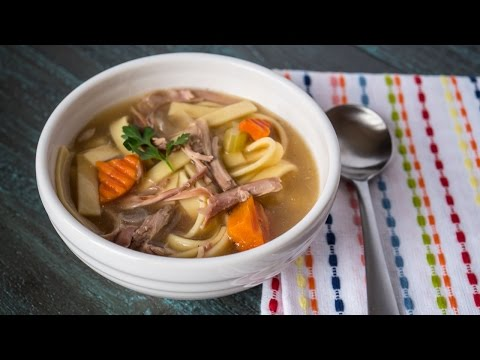 Pressure Cooker Day-After-Thanksgiving Turkey Carcass Soup - Time Lapse