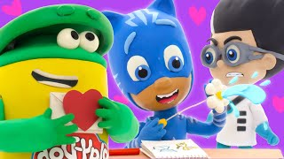 Play Doh Videos ❤️ PJ Masks x Play Doh Valentine's Trick ❤️