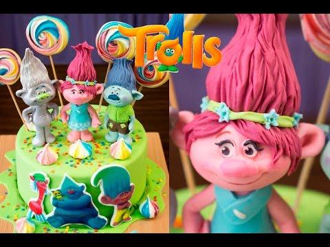 "Торт ""ТРОЛЛИ"". Фигурка Принцессы Розочки / ""Troll"" cake. Princess Figurine Roses"