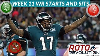 2018 Fantasy Football Lineup Advice  - Week 11 WR