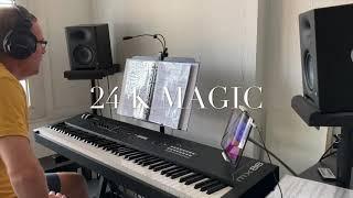 24 K MAGIC,Bruno Mars cover with yamaha mx88 and cubasis 3