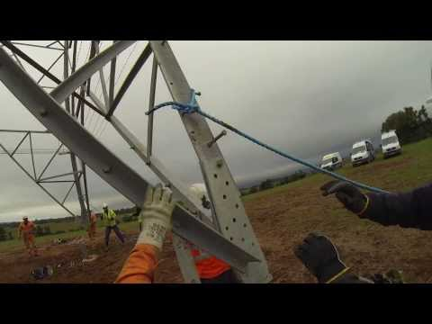 GoPro Hero 3 Tower Erecting Bristol UK With Helirig Helicopter LN-0BX