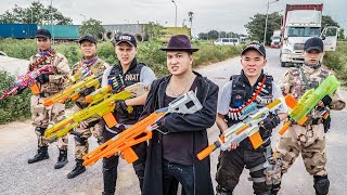 LTT Game Nerf War : Two Warriors SEAL X Nerf Guns Fight Braum Crazy Bandits Moto And Nerf New