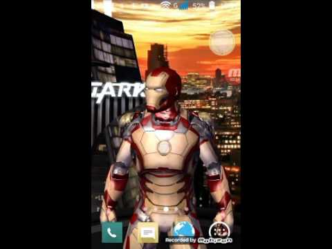 Iron man 3 live wallpaper iron man shot