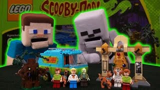 LEGO Scooby Doo Mystery Machine, Mummy Museum set Adventure Minecraft Unboxing Puppet Steve