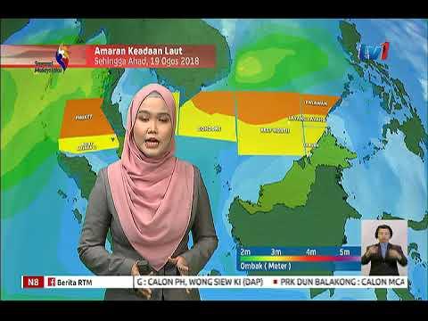 LANGSUNG: MET MALAYSIA -  LAPORAN CUACA 8PM [18 OGOS 2018]