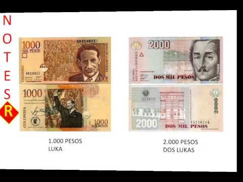 Learn Spanish: HOW WE CALL OUR MONEY (Colombian pesos)?