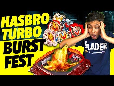 Beyblade Turbo Burst Fest!  Hasbro SlingShock Rail Rush Stadium Tournament!