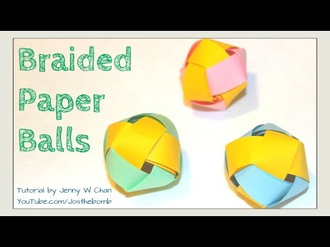 How To Make Paper Balls For Decoration Cool How To Make A Paper Ball  Paper Beads  Braided Paper Ball Review
