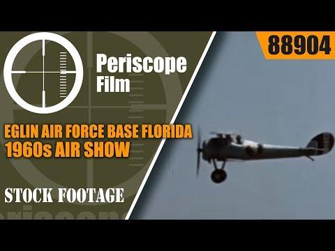 EGLIN AIR FORCE BASE FLORIDA 1960s AIR SHOW & F-100 SUPER SABRE AIRCRAFT 88904