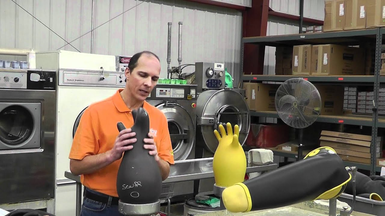 Electrical Glove Tester : Irby rubber glove testing process youtube