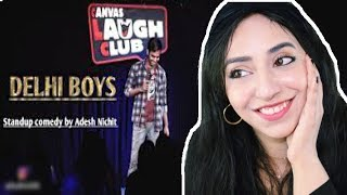 Delhi Boys  Stand-Up Comedy by Adesh Nichit REACTION by ITALIAN/PAKISTANI
