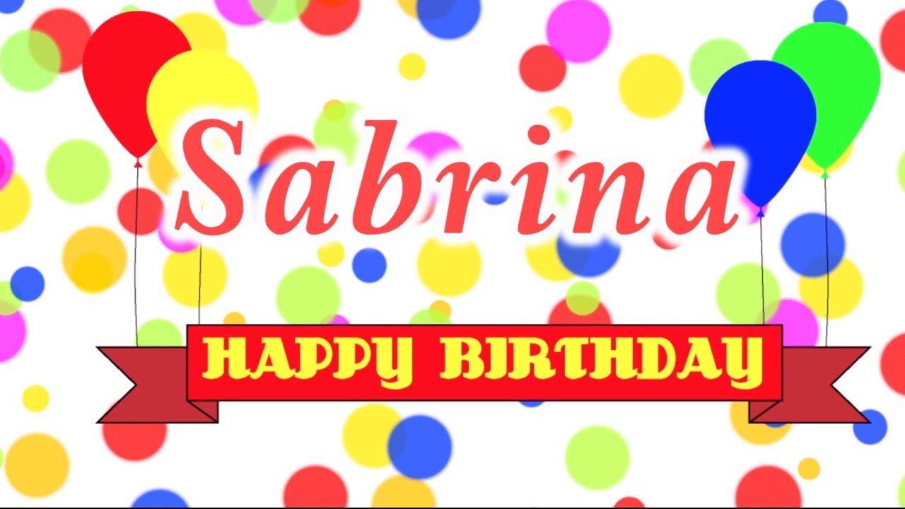 С днем рождения сабрина картинки