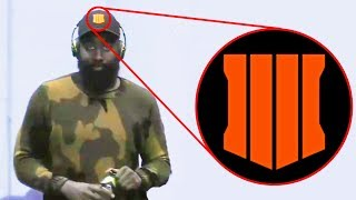 James Harden Wearing Black Ops 4 Hat