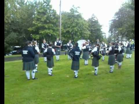 Outside the World Pipe Band Championships 2011 in Glasgow Green, Scotland