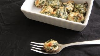 Spinach Stuffed Mushrooms Recipe - Day 16 Southern Queen Of Vegan Cuisine Project
