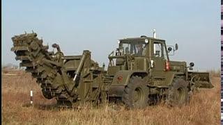 Военный прикол  ПЗМ и МДК в действии Diggin machine Ussr army trash