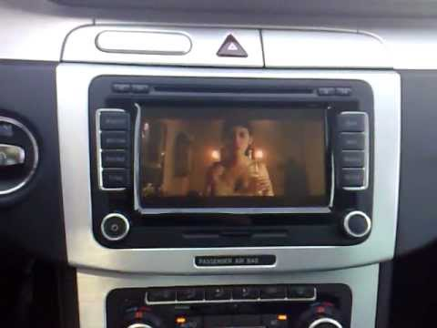 activate dvd playback  driving  volkswagen rns dvd wiedergabe waehrend der