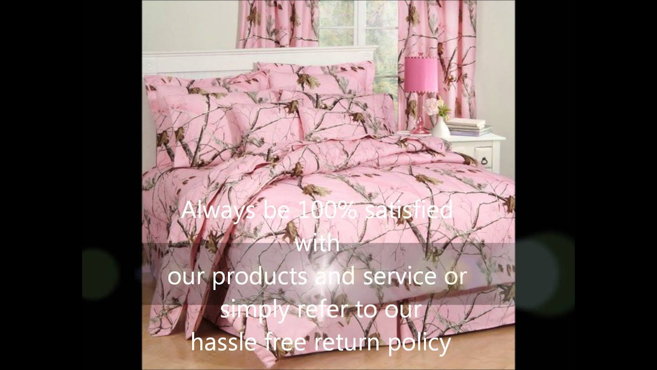 Realtree Pink Camo Bedding - YouTube