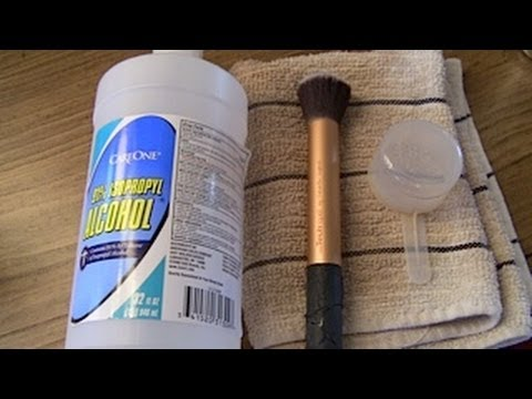 Overview How I clean my brushes w rubbing alcohol