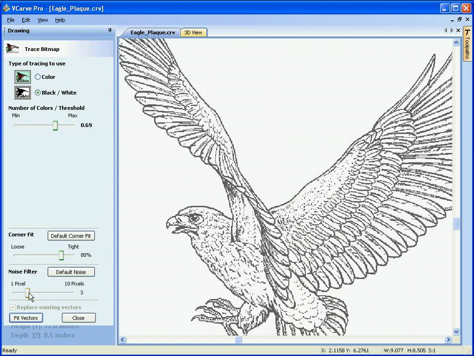 VCarve Pro - Image Tracing / Vectorization