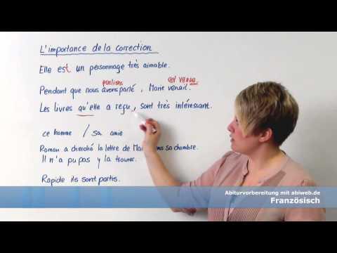 Fehler vermeiden im Französisch-Abitur - Zeitformen, Particip Passé, Verneinung