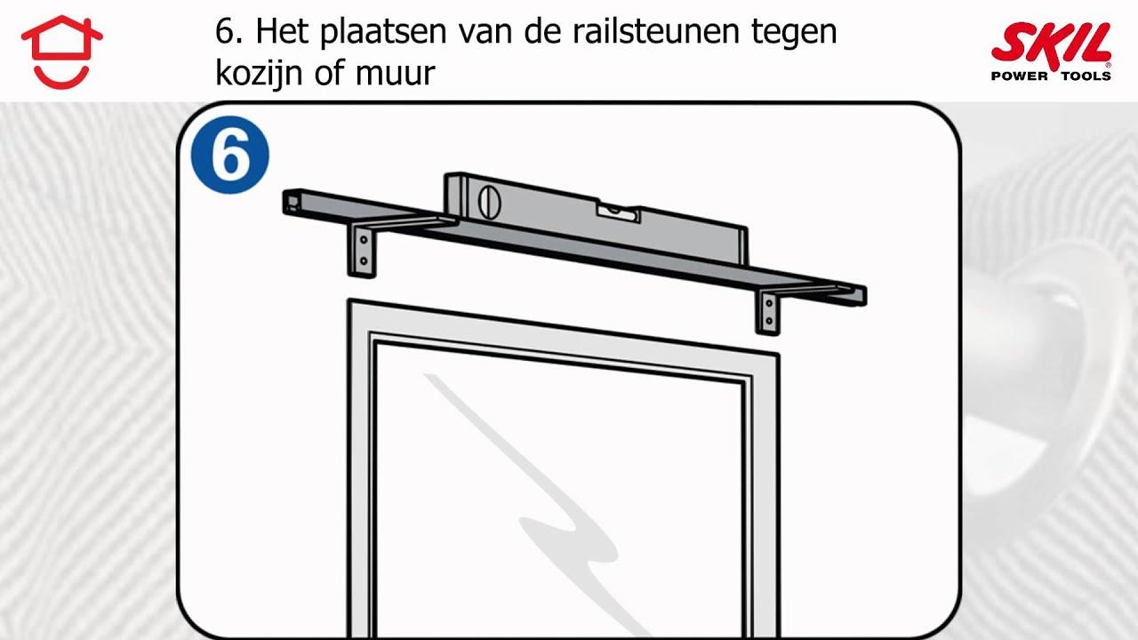 Stappenplan: een gordijnrail ophangen - YouTube