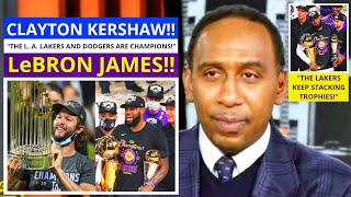 LeBron James(Lakers) Clayton Kershaw(Dodgers) 2020 Champions! First Take Stephen/Max [Commentary]