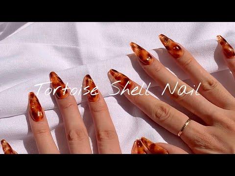 [셀프네일] 가을엔 힙하고 트렌디✨하게 애니멀프린트!🐆카누팁연장 같이해요💗Tortoise Shell Nail Art Tutorial💕/Self Nail/Gel Polish - YouTube