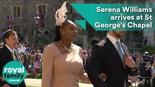 Serena Williams arrives at Royal Wedding 2018 of Prince Harry and Meghan Markle