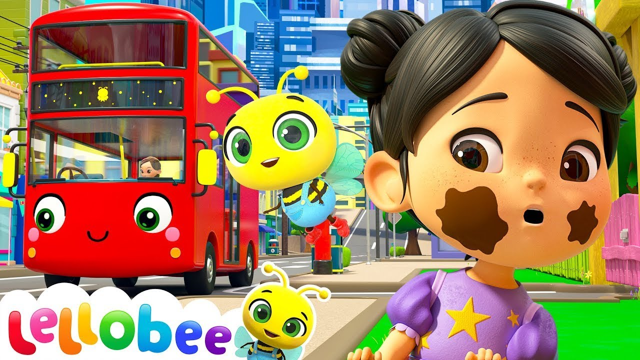 Wheels On The Bus Song -  Lellobee City Farm | Kids Cartoons & Nursery Rhymes | Moonbug Kids