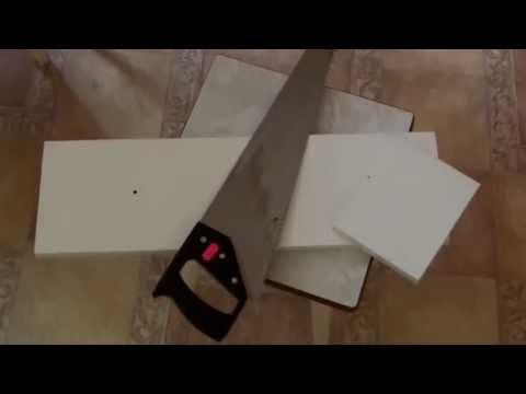 Изготовление полки в прихожей из остатков ДСП и уголков от модема