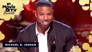 Michael B. Jordan Accepts the Award for Best Villain | 2018 MTV Movie & TV Awards