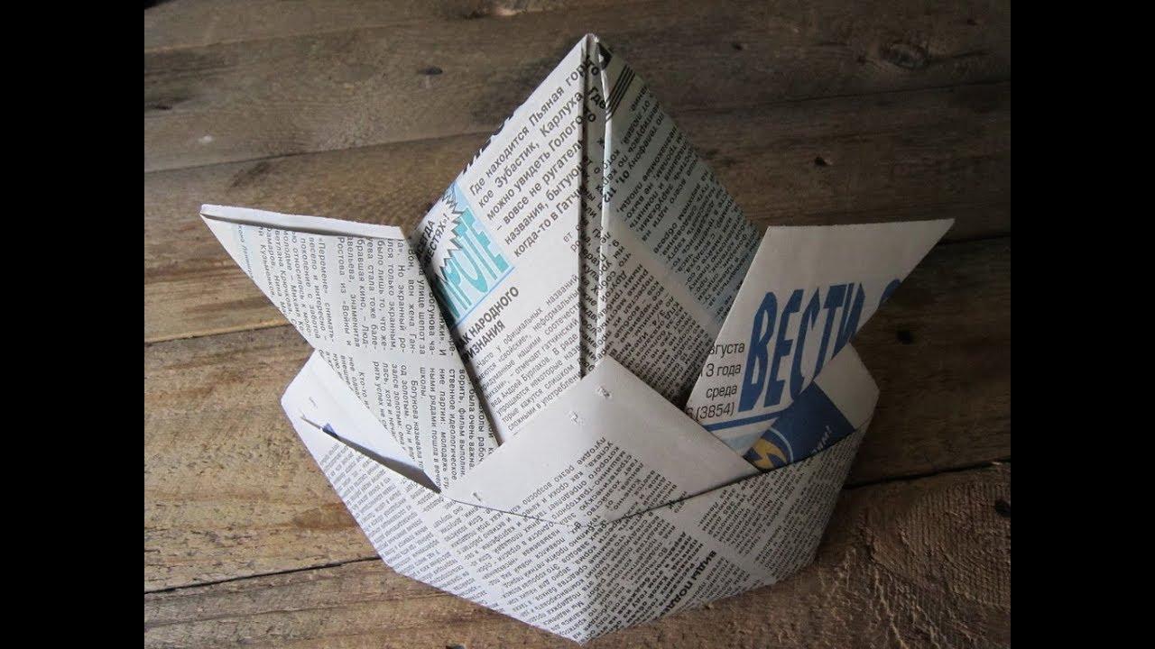 Как сделать оригами шапку фото 779