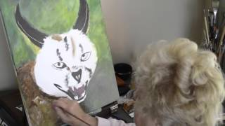 Time-Lapse Painting of Caracal ~ BluEyed NinJa Productions