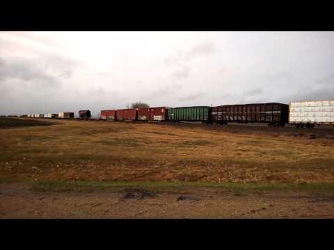 Reading 2100 Steam locomotive being hauled in Western MN