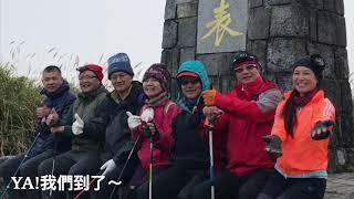 2017冬,再次與台中山友出遊,台電保線林道是條林蔭舒適大道,「光被八...
