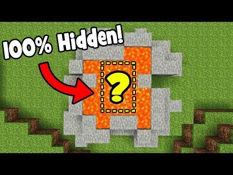 Minecraft Tutorial: How To Make A Secret Lava Base (100% HIDDEN BASE)