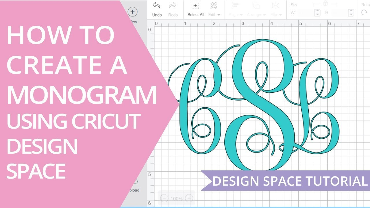 How To Make A Monogram In Cricut Design Space Youtube