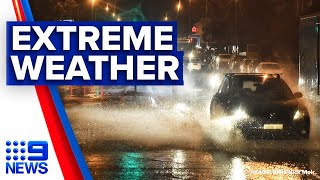 Hail covers parts of Sydney like snow | 9 News Australia