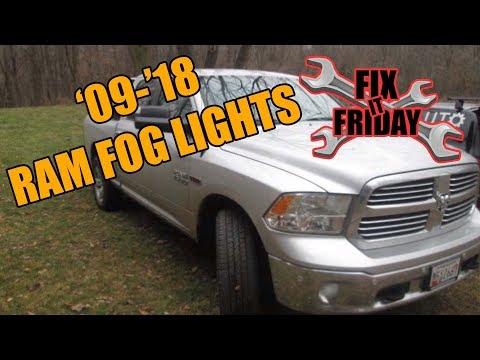 20092015 Dodge Ram Fog Light YouTube