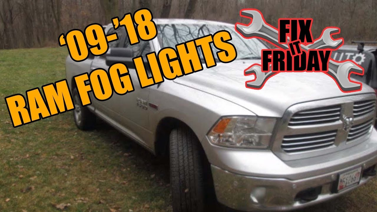 hight resolution of 2009 2018 dodge ram fog light