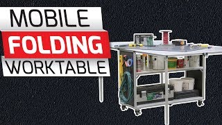 80/20 Inc: Xtreme DIY - Mobile Folding Worktable