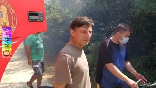Ardea focul în județ, fumul se vedea din capitală - Curaj.TV YouTube Videos