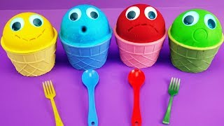 4 COLOR Play Doh Ice Cream Cups PEPPA PIG Chupa Chups Surprise Masha and Bear Toys Lego Story