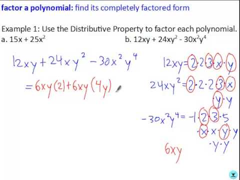 Factoring Using the Distributive Property - YouTube