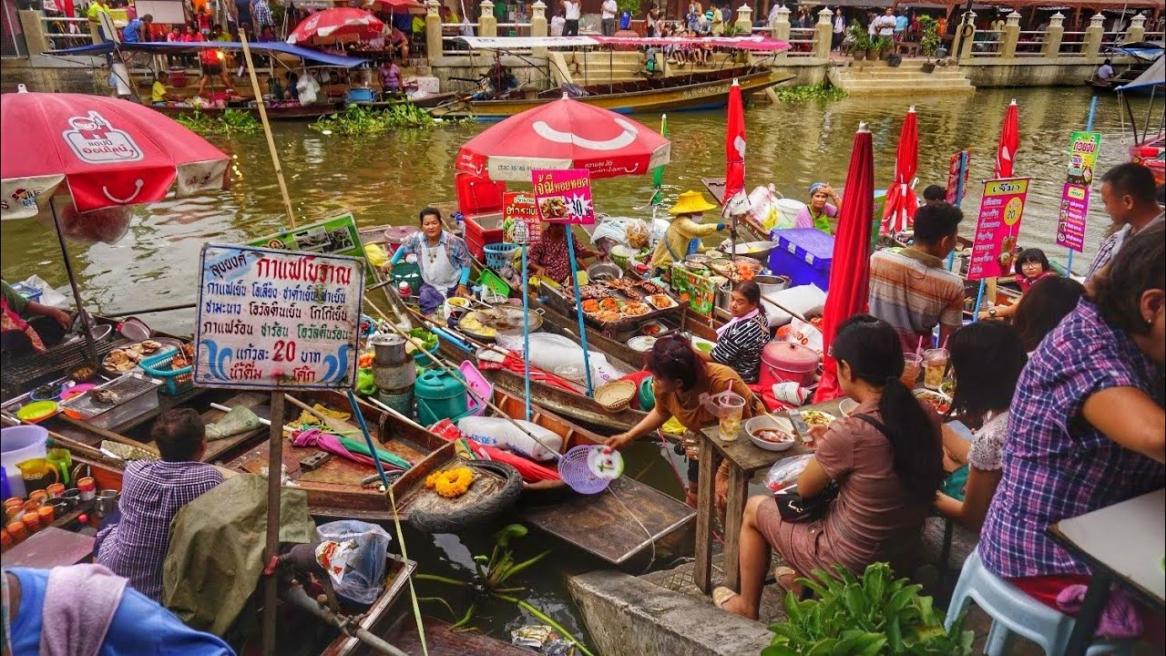 ผลการค้นหารูปภาพสำหรับ ตลาดน้ำอัมพวา