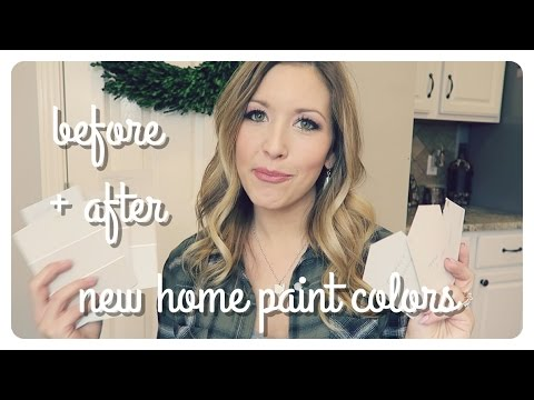 before + after | paint colors in our new home