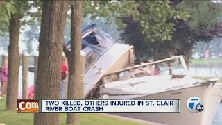 Two killed, others injured in St. Clair River boat crash