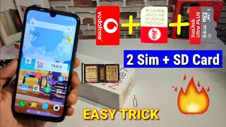 Redmi Note 7 Pro Hybrid sim Solution | How to use Dual sim card & micro SD card in Redmi Note 7 /Pro